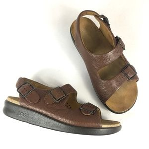 SAS Relaxed Tripad Comfort Brown Leather Sandal
